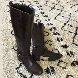 Vince camuto knee high boots size 6